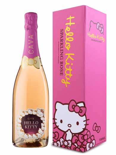 hello kitty cava sparkling wine