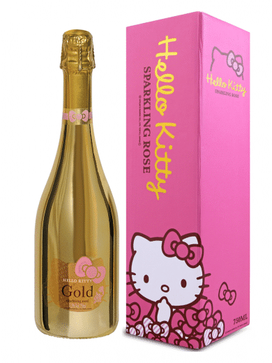 hello kitty gold sparkling wine