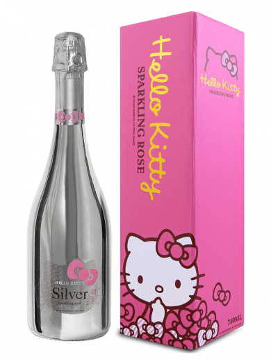 hello kitty silver sparkling wine