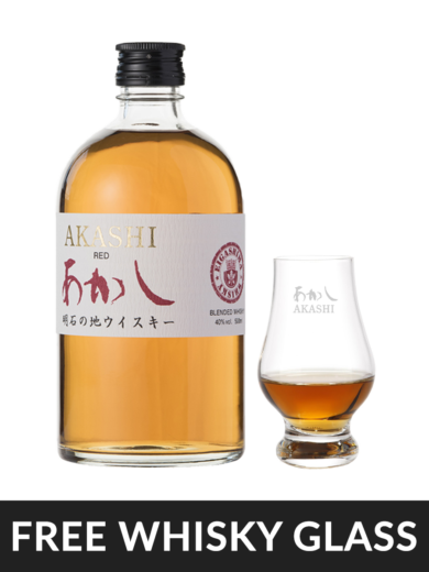 Akashi Red Blended Whisky with Glass