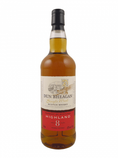 Dun Bheagan Highland 8yrs Single Malt Scotch Whisky