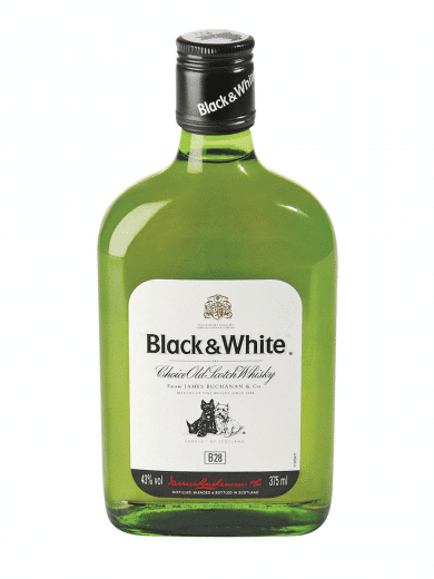 black & white scotch whisky 375ml